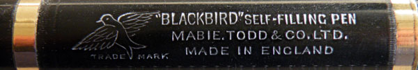 The Mabie Todd Blackbird Self-Filling Pen 1914-1925 (4/4)